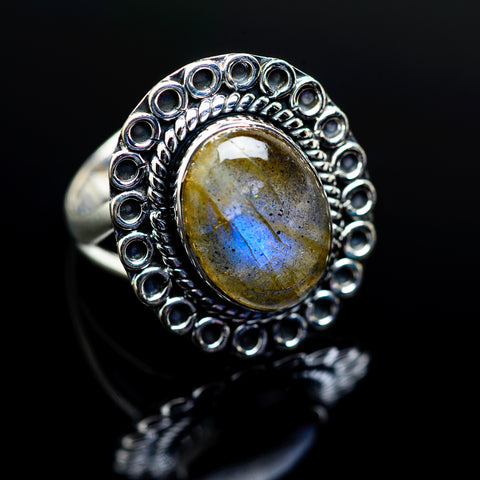 Labradorite Rings handcrafted by Ana Silver Co - RING979532