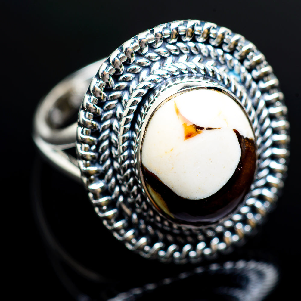 Peanut Wood Jasper 925 Sterling Silver Ring Size 8.75 RING980233 - from $39.99