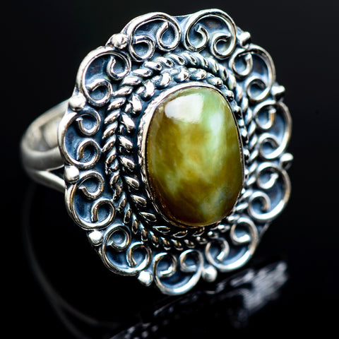 Rainforest Jasper Rings handcrafted by Ana Silver Co - RING980405
