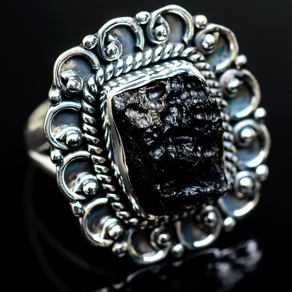 Tektite 925 Sterling Silver Ring Size 6.5 RING980414 - from $37.99