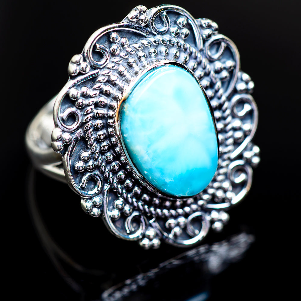 Larimar Ring Size 7.5 (925 Sterling Silver) RING980595 - from $46.99