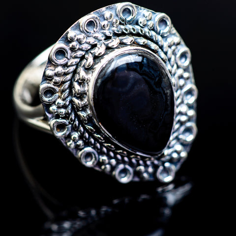 Psilomelane Rings handcrafted by Ana Silver Co - RING980678