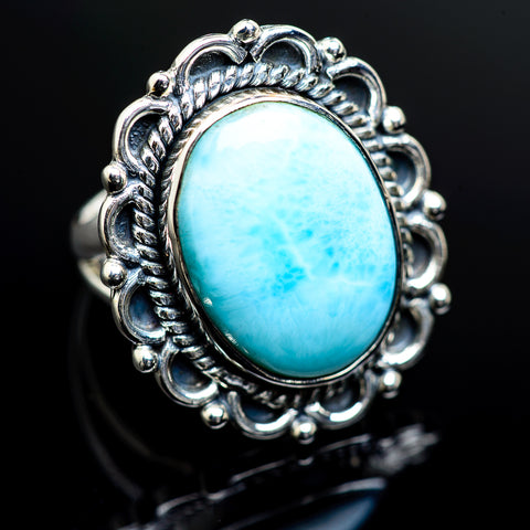 Larimar Rings handcrafted by Ana Silver Co - RING982624