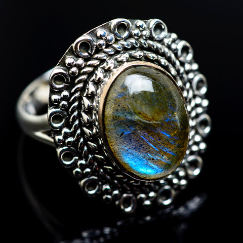 Labradorite Rings handcrafted by Ana Silver Co - RING982765