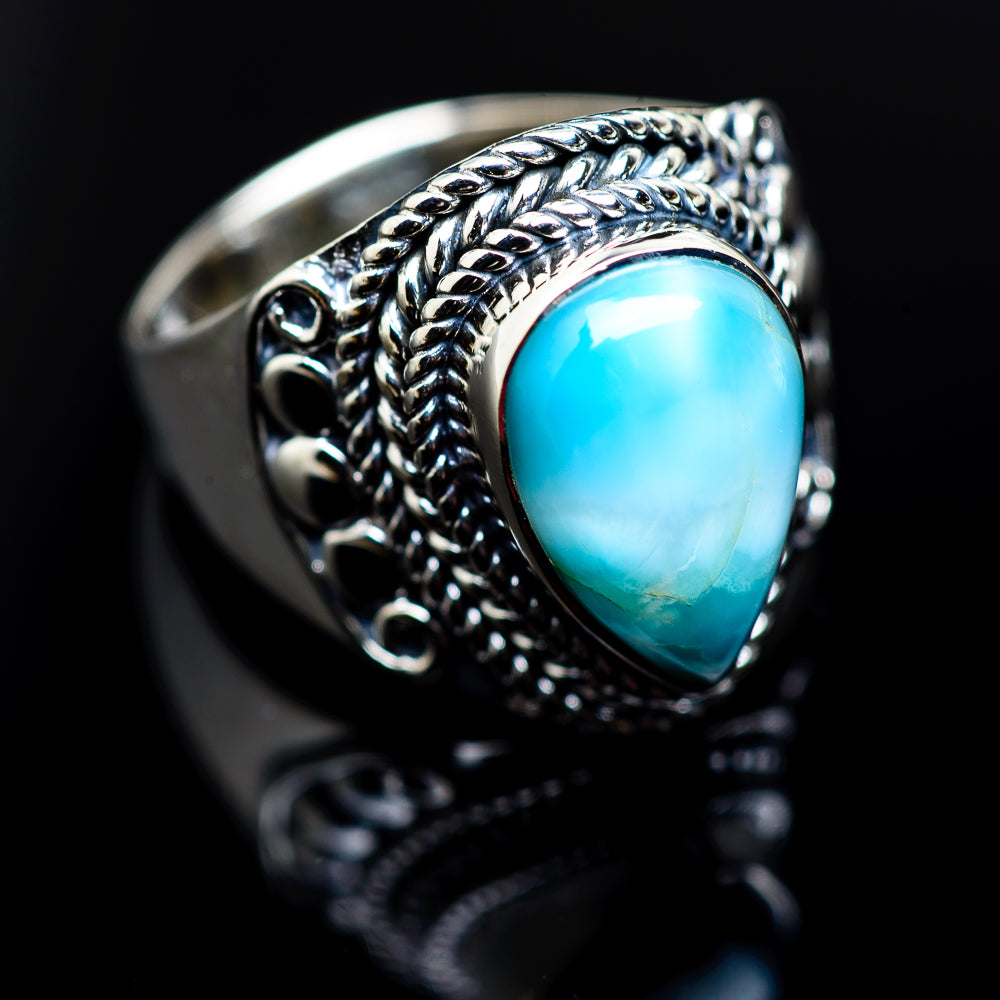Larimar Rings handcrafted by Ana Silver Co - RING982779