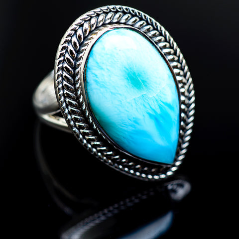 Larimar Rings handcrafted by Ana Silver Co - RING982926