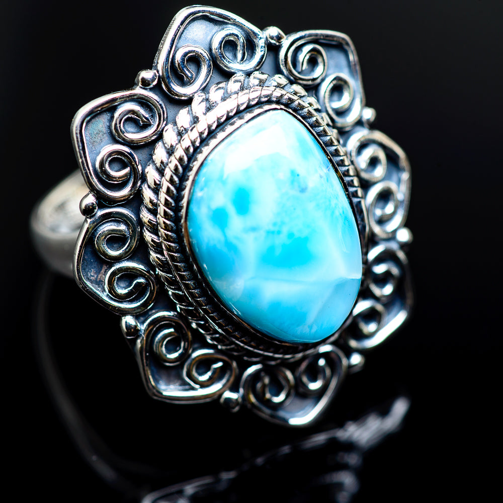Larimar Rings handcrafted by Ana Silver Co - RING982967