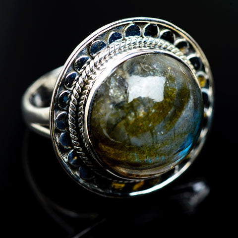 Labradorite Rings handcrafted by Ana Silver Co - RING983293
