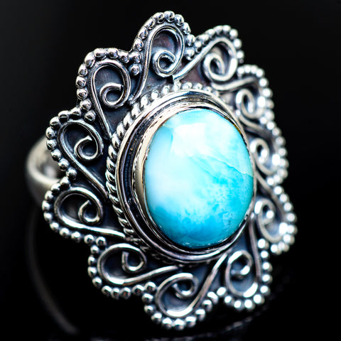 Larimar Rings handcrafted by Ana Silver Co - RING984170