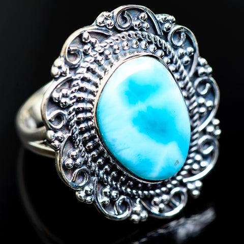 Larimar Rings handcrafted by Ana Silver Co - RING984191