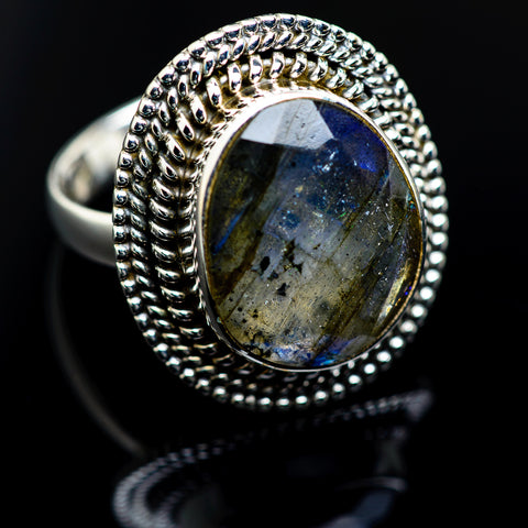 Labradorite Rings handcrafted by Ana Silver Co - RING984306