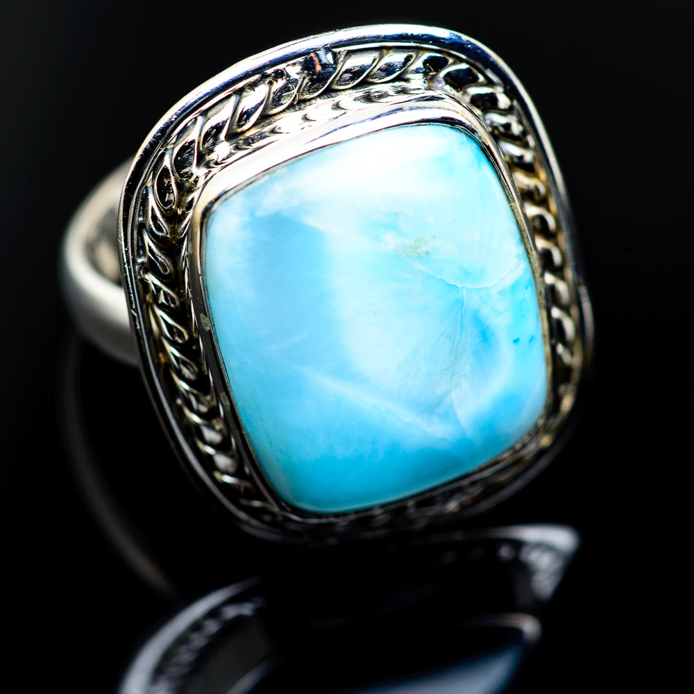 Larimar Rings handcrafted by Ana Silver Co - RING984307