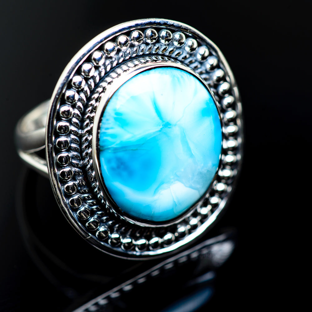 Larimar Rings handcrafted by Ana Silver Co - RING984592