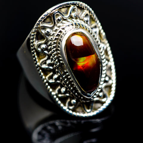 Mexican Fire Agate Rings handcrafted by Ana Silver Co - RING986876