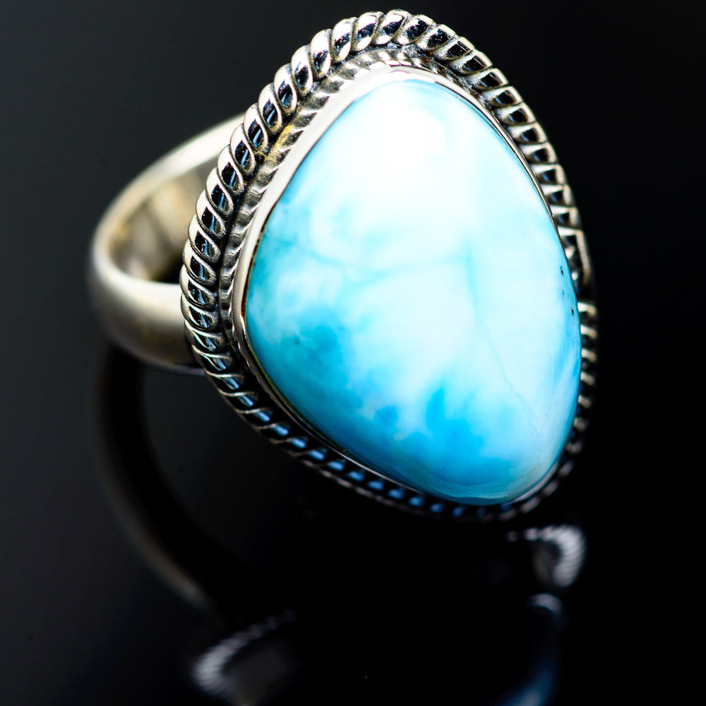 Larimar Rings handcrafted by Ana Silver Co - RING987216
