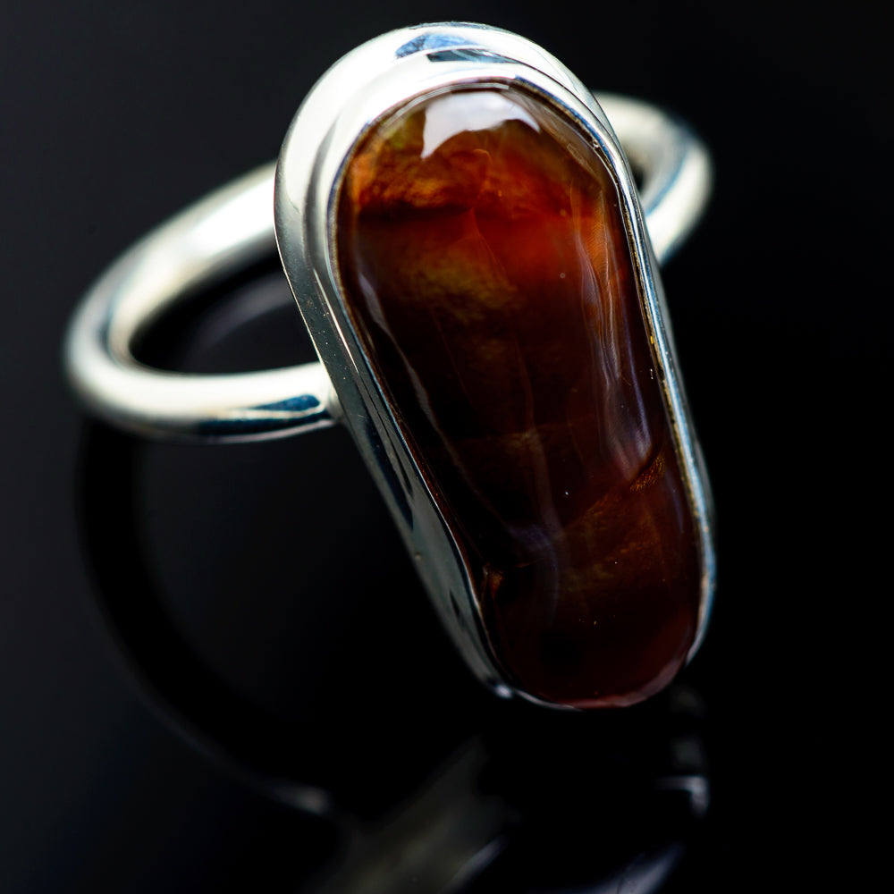 Mexican Fire Agate Rings handcrafted by Ana Silver Co - RING987743