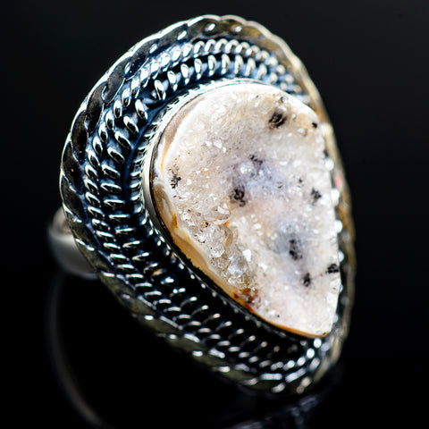 Desert Druzy Rings handcrafted by Ana Silver Co - RING988312
