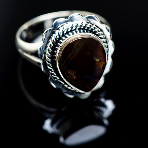 Ammolite Rings handcrafted by Ana Silver Co - RING988594