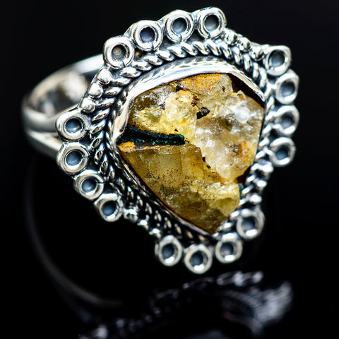 Tourmaline In Quartz Rings handcrafted by Ana Silver Co - RING988766