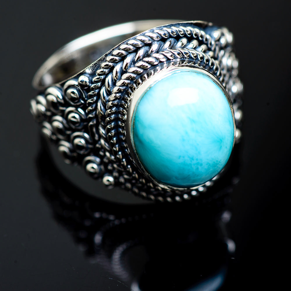 Larimar Rings handcrafted by Ana Silver Co - RING989332