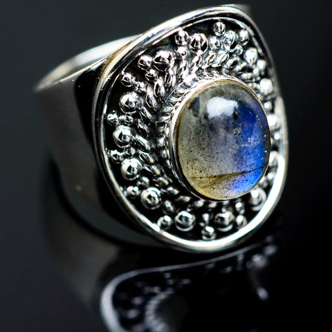 Labradorite Rings handcrafted by Ana Silver Co - RING989357