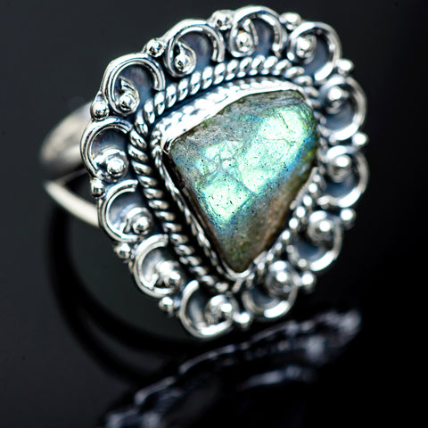 Labradorite Rings handcrafted by Ana Silver Co - RING989412