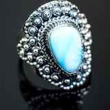 Larimar Rings handcrafted by Ana Silver Co - RING989721