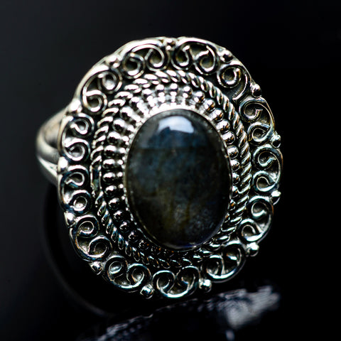 Labradorite Rings handcrafted by Ana Silver Co - RING991172