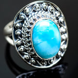 Larimar Rings handcrafted by Ana Silver Co - RING992061