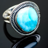 Larimar Rings handcrafted by Ana Silver Co - RING992149