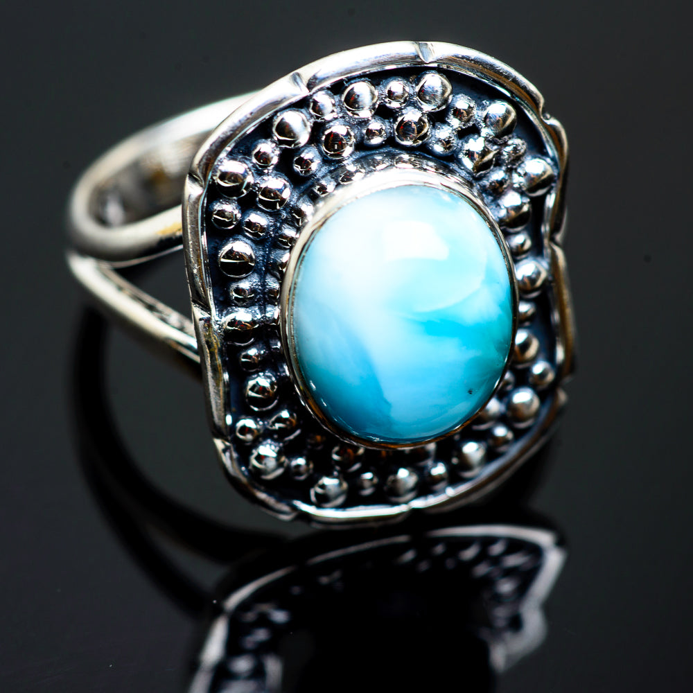 Larimar Rings handcrafted by Ana Silver Co - RING992561