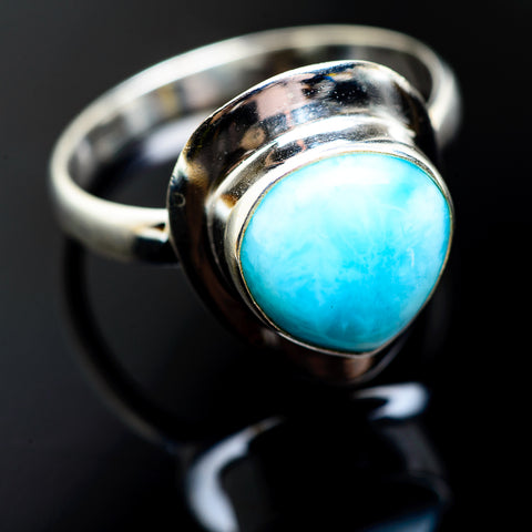 Larimar Rings handcrafted by Ana Silver Co - RING992765