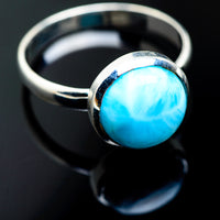 Larimar Rings handcrafted by Ana Silver Co - RING992790