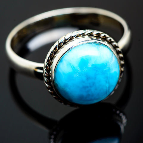 Larimar Rings handcrafted by Ana Silver Co - RING993082