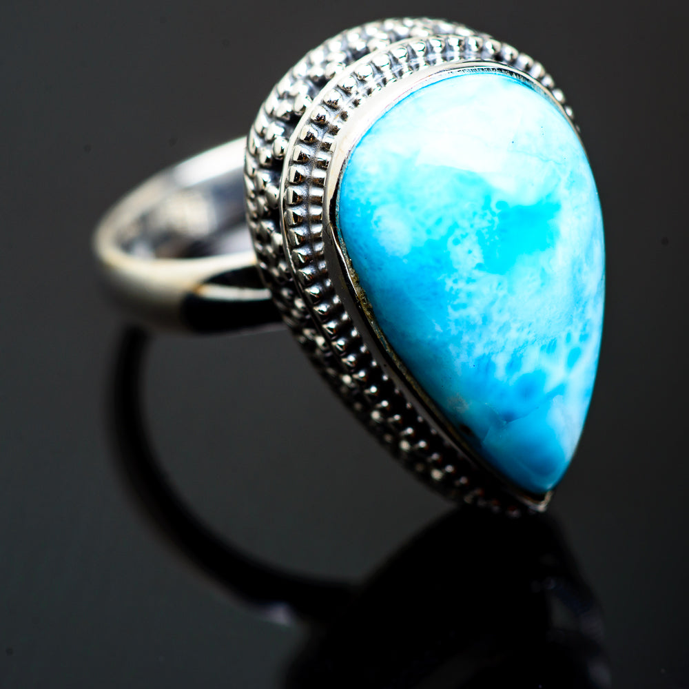 Larimar Rings handcrafted by Ana Silver Co - RING993162