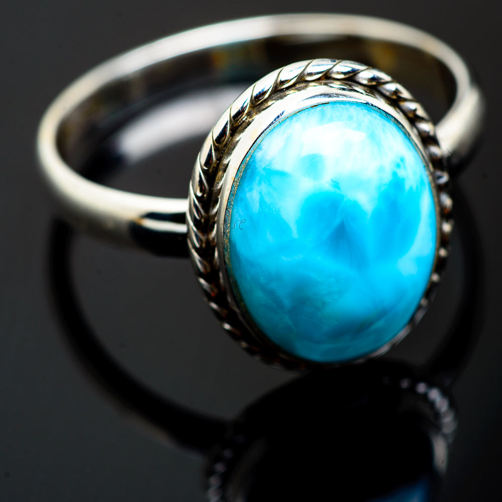 Larimar Rings handcrafted by Ana Silver Co - RING993201