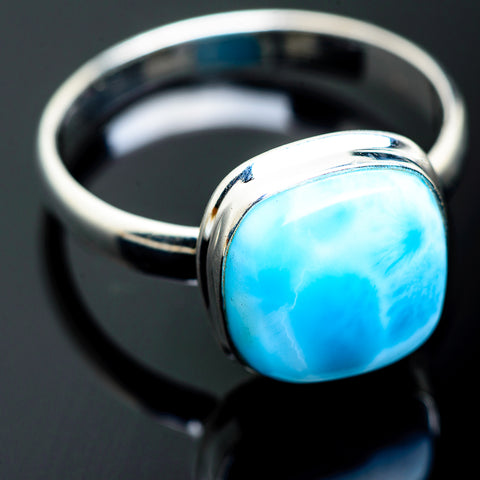 Larimar Rings handcrafted by Ana Silver Co - RING994023