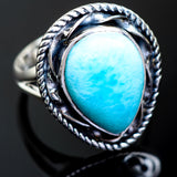 Larimar Rings handcrafted by Ana Silver Co - RING995237