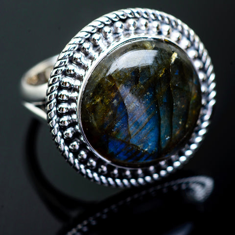 Labradorite Rings handcrafted by Ana Silver Co - RING995266