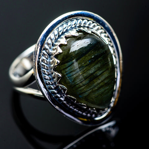 Labradorite Rings handcrafted by Ana Silver Co - RING995270