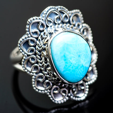 Larimar Rings handcrafted by Ana Silver Co - RING995403