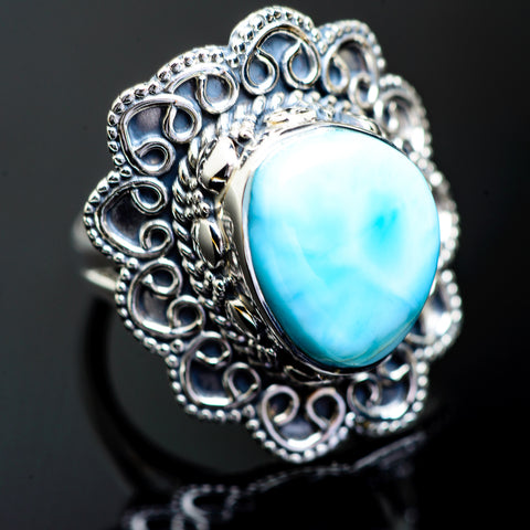 Larimar Rings handcrafted by Ana Silver Co - RING995476