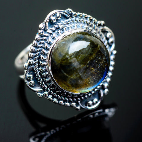 Labradorite Rings handcrafted by Ana Silver Co - RING995771
