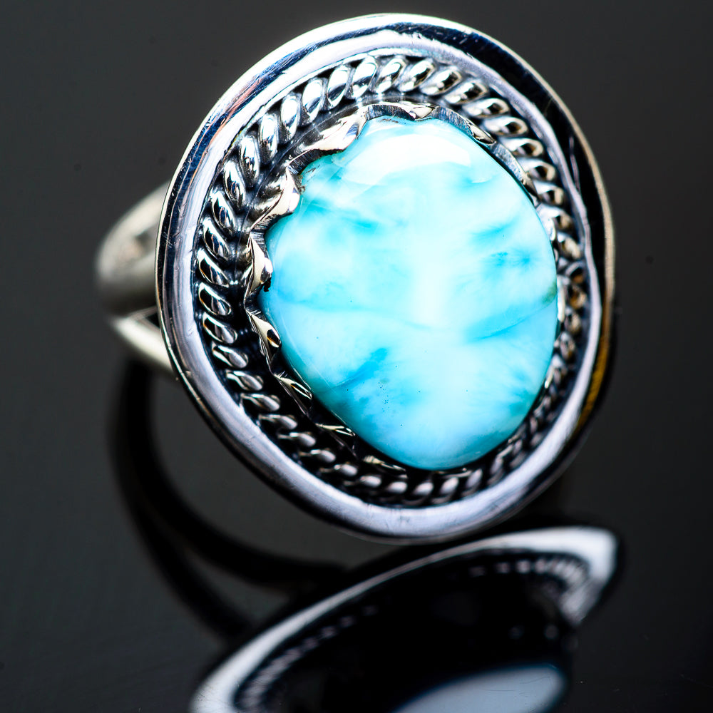 Larimar Rings handcrafted by Ana Silver Co - RING995777