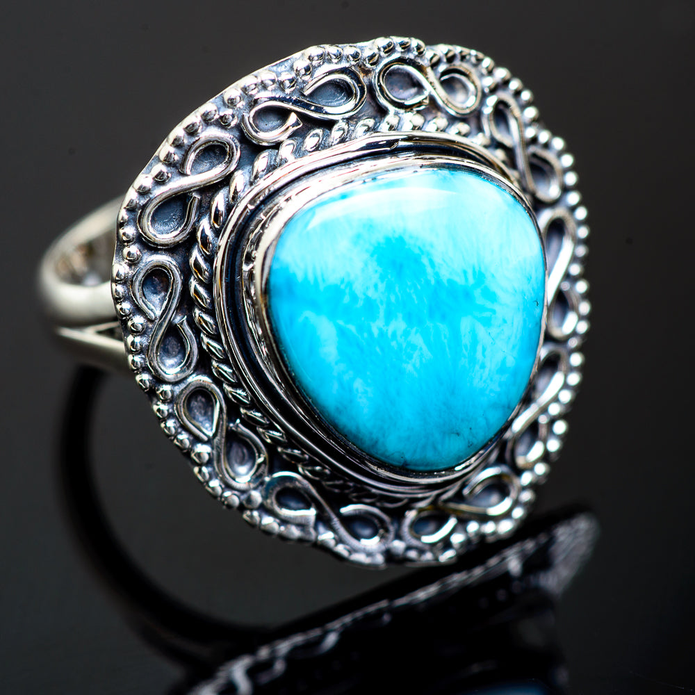 Larimar Rings handcrafted by Ana Silver Co - RING995779