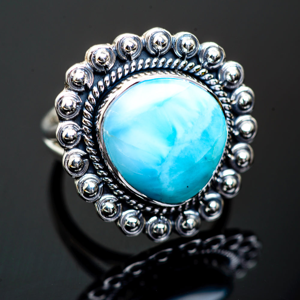 Larimar Rings handcrafted by Ana Silver Co - RING995784