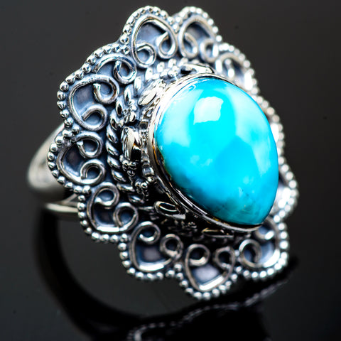 Larimar Rings handcrafted by Ana Silver Co - RING995798