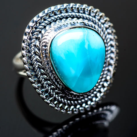Larimar Rings handcrafted by Ana Silver Co - RING995877