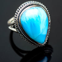 Larimar Rings handcrafted by Ana Silver Co - RING995892