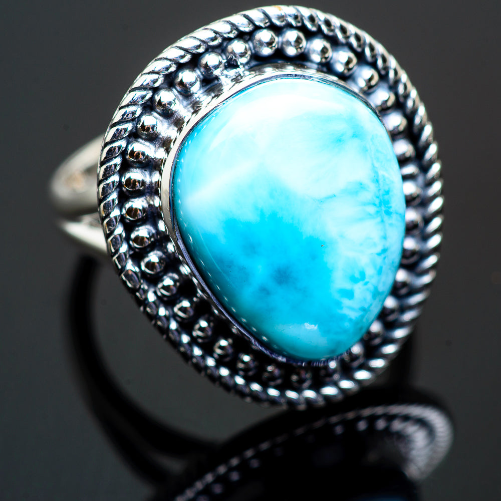 Larimar Rings handcrafted by Ana Silver Co - RING996043